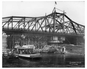 Harlem River number 2  boat in Ship Canal - wide shot - NYC 1906