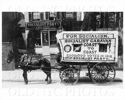 Horse Cart brooklyn Socialist Wagon 957 Willoughby Ave Bushwick 1913