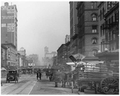 Horse Carts line the streets in Chelsea Manhattan