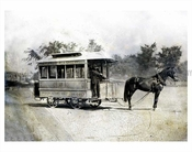 Horse drawn Trolley - Flatbush bound