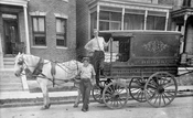 Horse-drawn wagon, c.1912