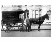 Horse Drawn Wagon  - delivery of wine & liqour Edward Rieke Co. HQ on Bedford & Rutledge Street in Willimsburg Brooklyn NY