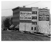 Hortons Ice Cream Billboard at Kingsbridge Road (now called West 225th Street in the Marble Hill) & Ship Canal  Bronx, NY 1903