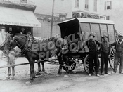 Ice Wagon on 60th Street near 12th Avenue, 1912