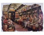 Interborough interior of subway car 1925