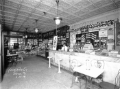 Interior of Freidin's, southeast corner of McDonald Avenue and Avenue C, 1929