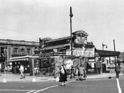 IRT subway kiosk at Atlantic, Flatbush, and 4th Avenues (Times Plaza), 1959