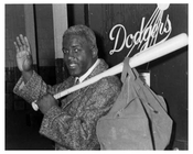 Jackie Robinson retires 1957 - seen leaving Ebbets Field locker room - Flatbush - Brooklyn NY