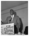 Jackie Robinson supporting Al Hicks in 1960 - Brooklyn NY