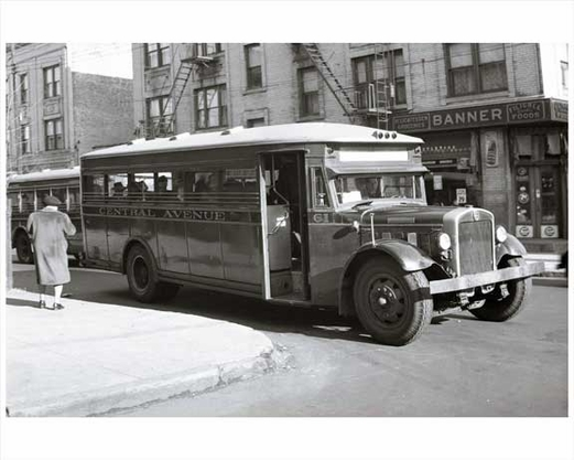 jersey city bus central avenue 1948 nj images and photography at old nyc photos. Black Bedroom Furniture Sets. Home Design Ideas