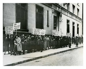 Jobs Demonstration downtown Manhattan during the Great Depression 1933