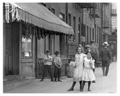Kids playing on Dominick Street - Western edge of Soho - July 1916- sandwiched between Greenwich Village,  Soho & Tribecca