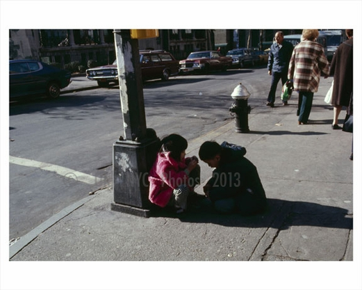 kids playing on the corner - Manhattan, NY