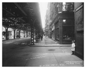 Kids playing on the corner of Greenwich Street - Manhattan - NYC 1914