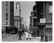 Kids walking down Lexington & 44th - Midtown East  1912 - NYC