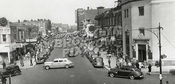 Kings Highway looking east at East 16th Street, 1942. View from Brighton Line structure