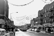 Kings Highway looking west from East 18th Street at the Avalon Theater, 1964