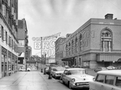 Lafayette Avenue looking east to Adelphi Place showing Brooklyn Academy of Music, 1961