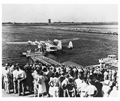LaGuardia Marine Terminal - Inauguration of  Trans Atlantic flights spring 1940