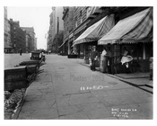 Laundry Carts on 7th Avenue & West 54th Street -  Midtown Manhattan 1914