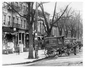 Lenox & 126th Street Horse & Wagons lined the streets in Harlem NY 1901