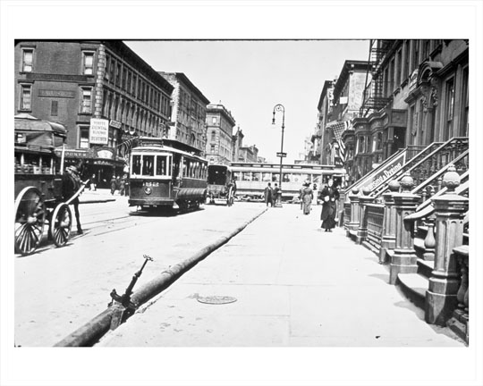 Lexington Avenue 59th Street Looking At Bloomingdales Early 1900s