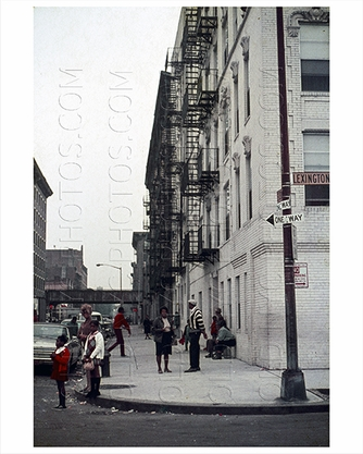 Lexington Avenue &  East 138th Street Harlem 1969