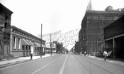Liberty Avenue east to Georgia Avenue. Piel Bros. Brewery at right, 1946