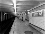 Liberty Avenue station of the IND Fulton Street Line, c.1942