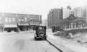 Lincoln Place looking east to Washington Avenue showing the closed Strand Theater, 1924