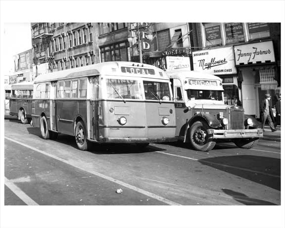 local transit 39 jersey city bus 1948 nj images and photography at old nyc photos. Black Bedroom Furniture Sets. Home Design Ideas