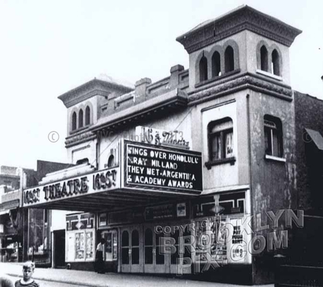 Loew's 16th Street Theatre, 166 Sixteenth Street, Park Slope south, 1955