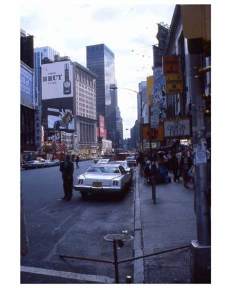 Looking South from Times Square NYC 1970s