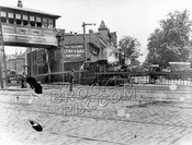 Long Island Rail Road locomotive, Atlantic Avenue at Ft. Greene Pl., 1898