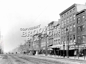 Long view of Atlantic Avenue looking west from Clinton Street toward Henry Street, circa 1895