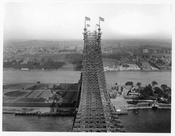 Looking at Queens from Queensboro Bridge 1910  -  Queens, NY