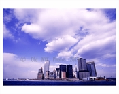 Looking at the Manhattan Skyline  - Twin Towers 1970s