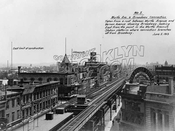 Looking east from Myrtle Avenue on Broadway Brooklyn L in 1913