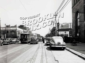Looking east on Church Avenue to Nostrand Avenue, 1948