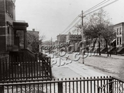 Looking from the stoop of 340 Gates Avenue towards Bedford Avenue, 1897
