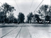 Looking north on Utica Avenue at Eastern Parkway, 1915