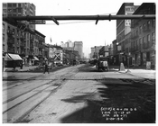 Looking south down 7th Avenue between 17th & 18th  Streets - March 20 1916 Chelsea, Manhattan