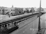 Looking southwest from Howard and Atlantic Avenues, 1915