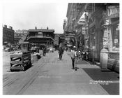 Looking up 6th Ave at 14th Street Train station Greenwich Village Manhattan, NY  1918
