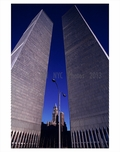 looking up at the World Trade Center