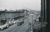 Looking west along Atlantic Avenue, from Ex-Lax building, 1949