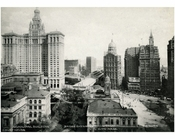 Lower Manhattan - City Hall, Court House & Municpal Building