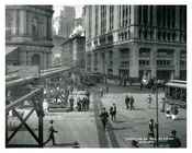 Mail Street & Broadway 1913 - Financial District Downtown Manhattan NYC
