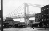 Main Street ferry landing showing Manhattan Bridge under construction, 1908