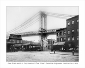 Main Street & Front Street with Manhattan Bridge under construction 1907